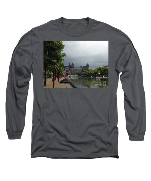 Long Sleeve T-Shirt featuring the photograph I Amsterdam by Therese Alcorn
