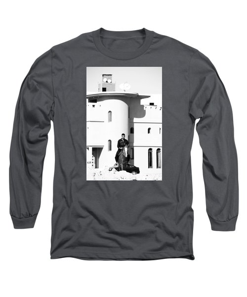 Long Sleeve T-Shirt featuring the photograph I Gotta Leave This Town by Jez C Self