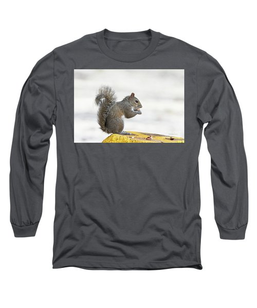 Long Sleeve T-Shirt featuring the photograph I Have My Nuts by Deborah Benoit