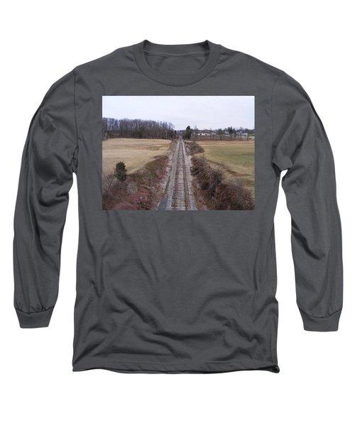 I Hear That Train A Comin' Long Sleeve T-Shirt by Adam Cornelison