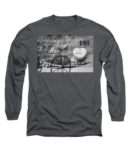 Long Sleeve T-Shirt featuring the photograph I Heart You by Toni Hopper