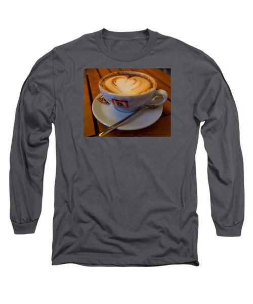 Long Sleeve T-Shirt featuring the photograph I Love Coffee by Laura Ragland