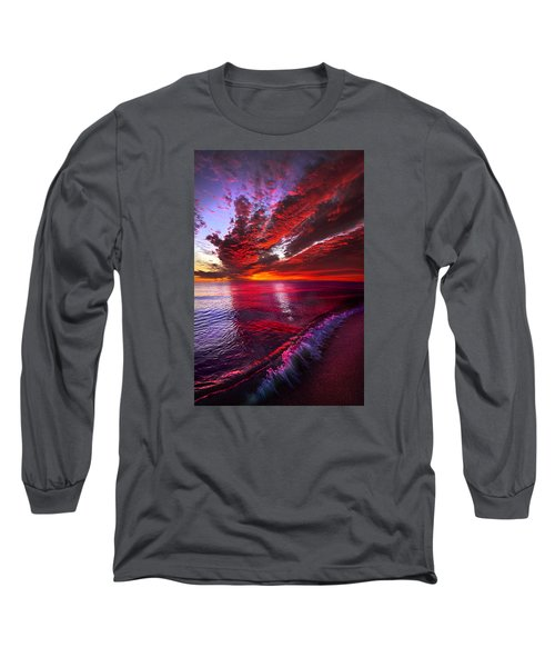 Long Sleeve T-Shirt featuring the photograph I Wake As A Child To See The World Begin by Phil Koch