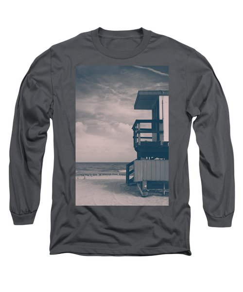 Long Sleeve T-Shirt featuring the photograph I Was Checkin' On The Surfin' Scene by Yvette Van Teeffelen