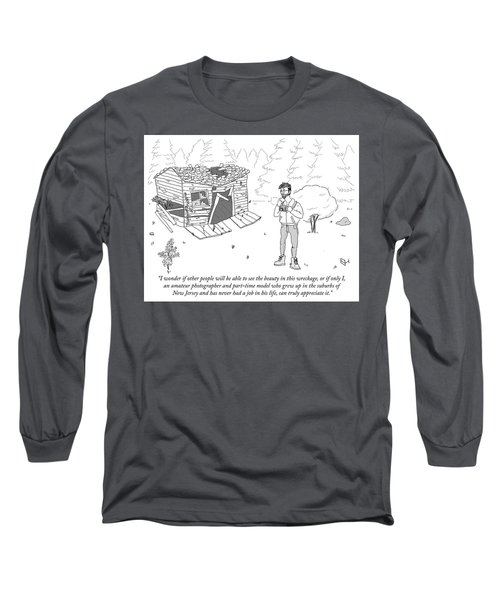 I Wonder If Other People Will Be Able To See Long Sleeve T-Shirt