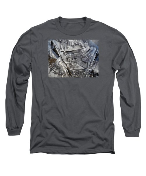 Long Sleeve T-Shirt featuring the photograph Ice Abstract by Lynda Lehmann