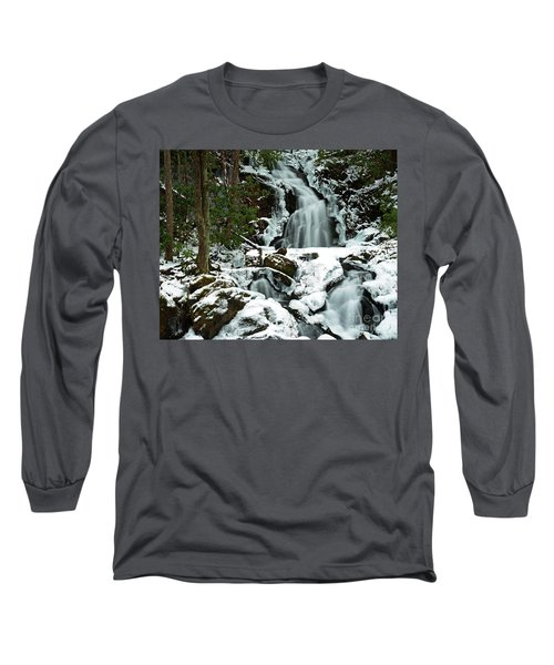 Ice And Snow, Mouse Creek Falls, Great Smoky Mountain National Park Long Sleeve T-Shirt