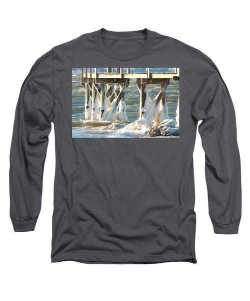 Ice Covered Pilings Long Sleeve T-Shirt