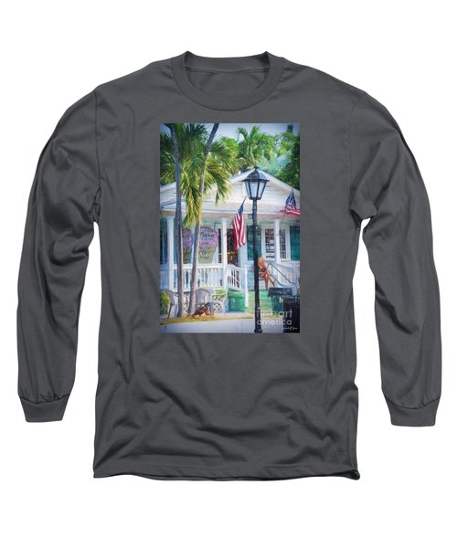 Ice Cream In Key West Long Sleeve T-Shirt by Linda Olsen
