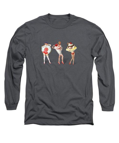 Ice Cream Woman 4 Long Sleeve T-Shirt by Mark Ashkenazi