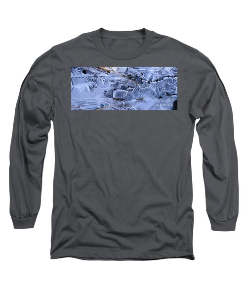 Ice Crystal Art Long Sleeve T-Shirt by Michele Penner