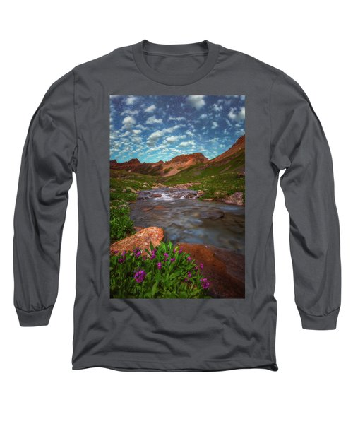 Long Sleeve T-Shirt featuring the photograph Ice Lake Nights by Darren White