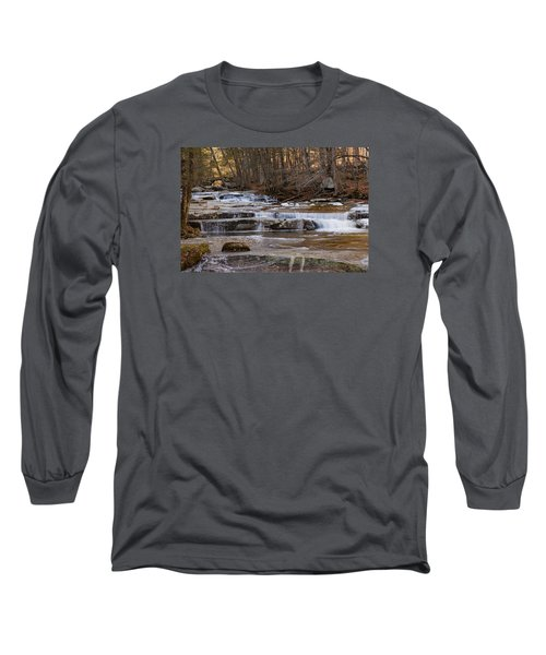 Ice On Fall Stream Long Sleeve T-Shirt