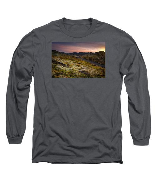 Long Sleeve T-Shirt featuring the photograph Iceland Sunset by Chris McKenna