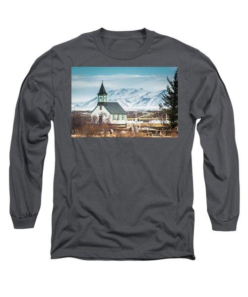 Icelandic Church, Thingvellir Long Sleeve T-Shirt