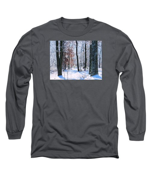 Icey Forest 1 Long Sleeve T-Shirt by Craig Walters