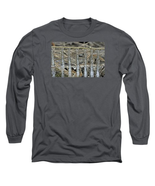 Long Sleeve T-Shirt featuring the photograph Icicles On A Stick by Glenn Gordon