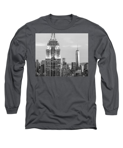 Iconic Skyscrapers Long Sleeve T-Shirt by Az Jackson