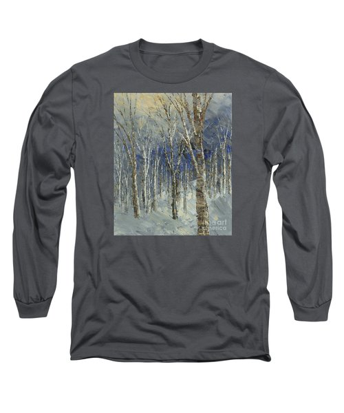 Long Sleeve T-Shirt featuring the painting Icy Bells by Tatiana Iliina