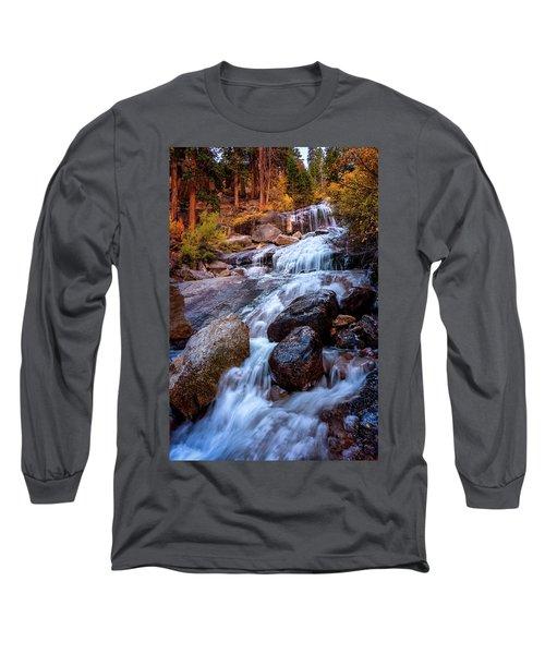 Icy Cascade Waterfalls Long Sleeve T-Shirt
