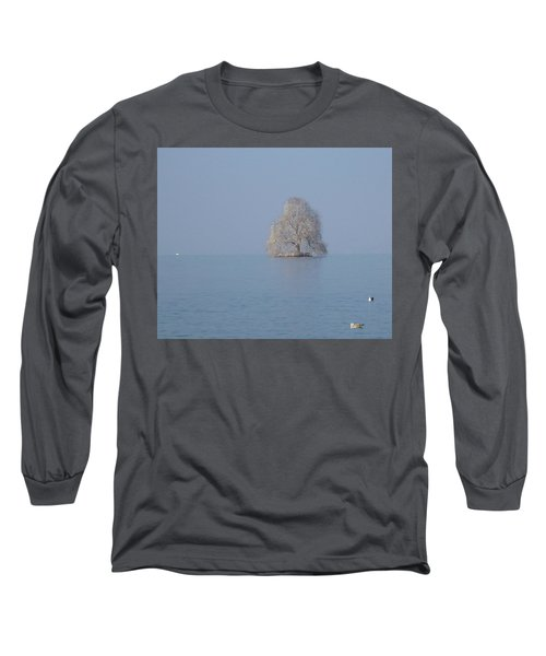 Long Sleeve T-Shirt featuring the photograph Icy Isolation by Christin Brodie