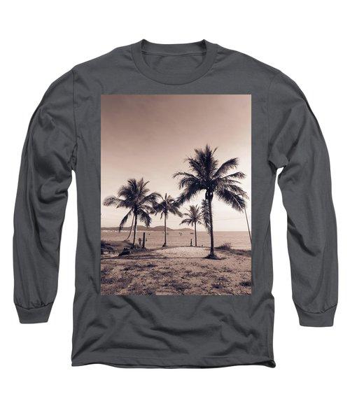 Idyllic Beach Long Sleeve T-Shirt