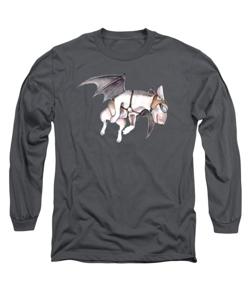 If Pigs Could Fly Long Sleeve T-Shirt by Jindra Noewi