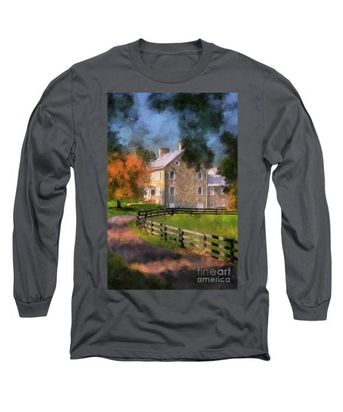 Long Sleeve T-Shirt featuring the digital art If These Walls Could Talk  by Lois Bryan