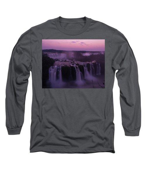 Iguazu Sunset In Violet Long Sleeve T-Shirt