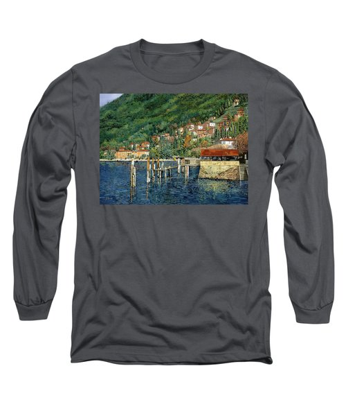 il porto di Bellano Long Sleeve T-Shirt