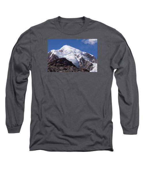 Illampu Mountain Long Sleeve T-Shirt by Aivar Mikko