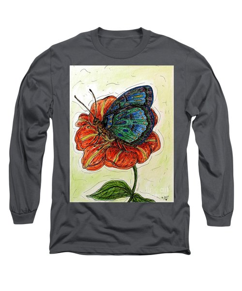 Imagine Butterflies A Long Sleeve T-Shirt