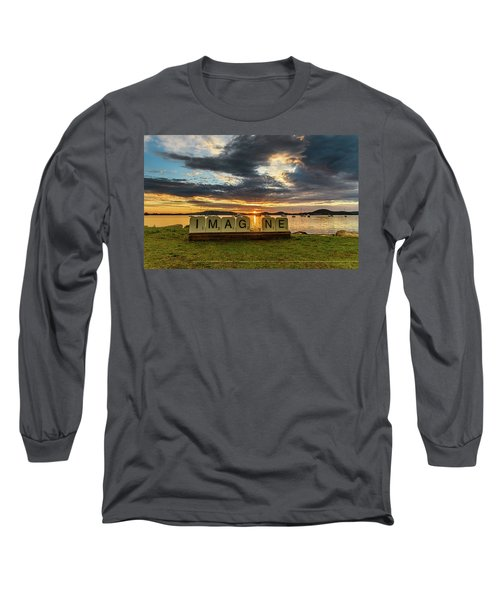 Imagine Sunrise Waterscape Over The Bay Long Sleeve T-Shirt