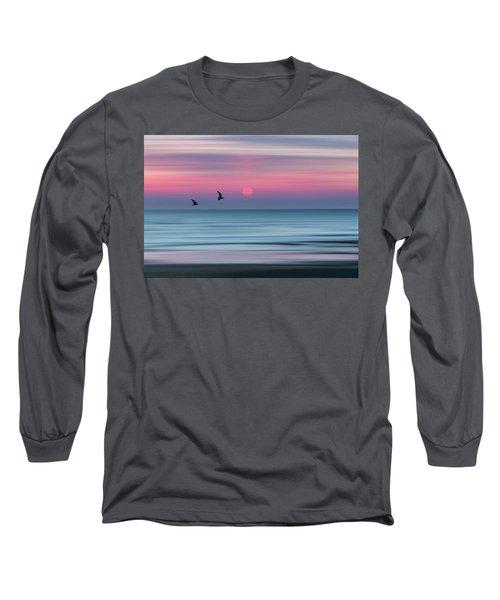 Impressionistic Sunset At Widemouth Bay, Bude, Cornwall, Uk.  Long Sleeve T-Shirt