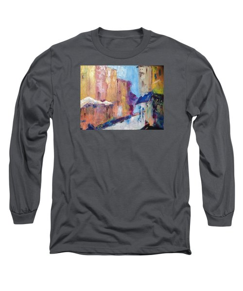 Impressions Of Monte Martre, Paris Long Sleeve T-Shirt