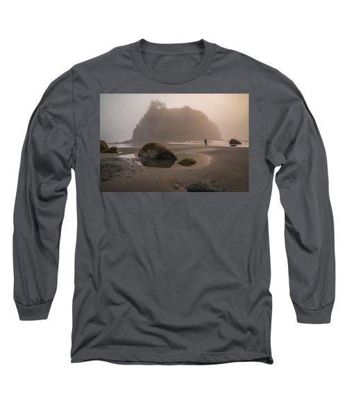 In A Fog Long Sleeve T-Shirt by Kristopher Schoenleber