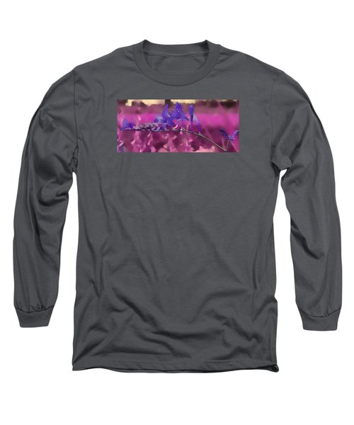 In A Pink World Long Sleeve T-Shirt by Milena Ilieva