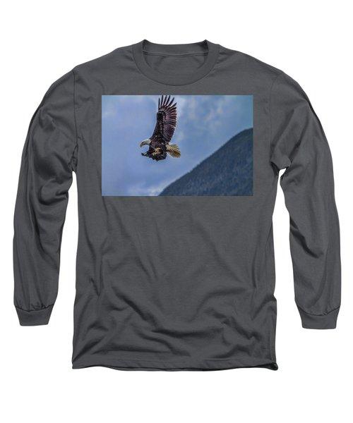 In Flight Lunch Long Sleeve T-Shirt by Timothy Latta