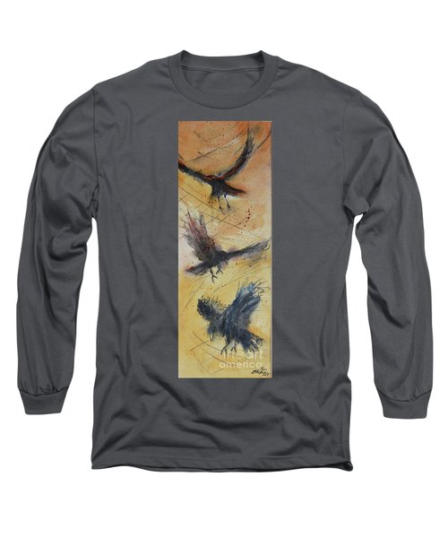 Long Sleeve T-Shirt featuring the painting In Flight by Ron Stephens