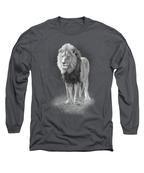 In His Prime - Black And White Long Sleeve T-Shirt by Lucie Bilodeau