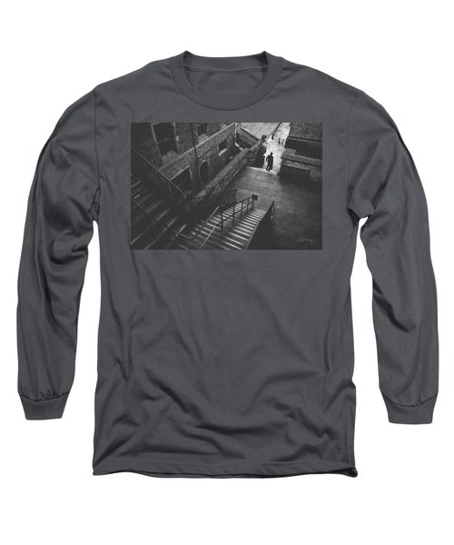 In Pursuit Of The Devil On The Stairs Long Sleeve T-Shirt by Joseph Westrupp