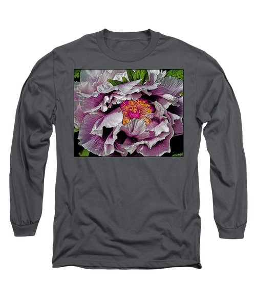 In The Eye Of The Peony Long Sleeve T-Shirt by Chris Lord