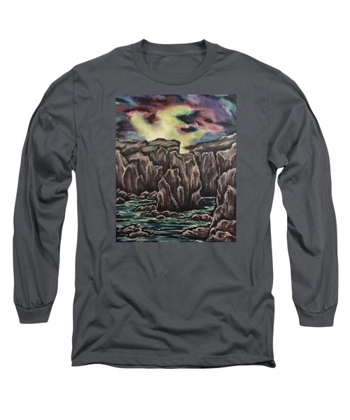 Long Sleeve T-Shirt featuring the painting In The Land Of Dreams 2 by Cheryl Pettigrew