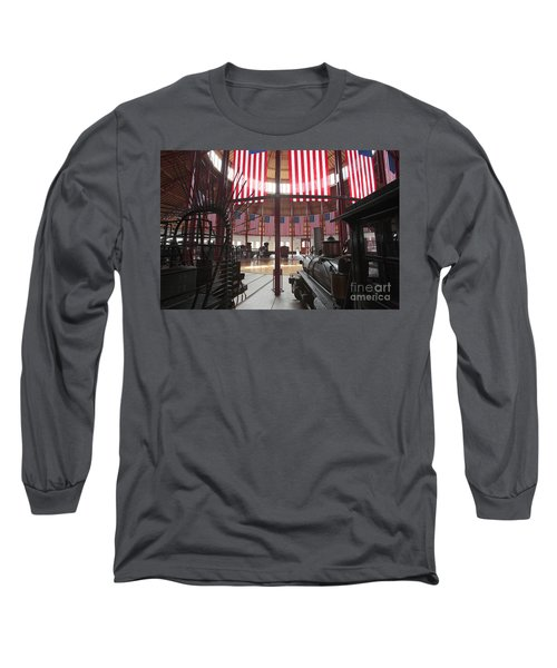 In The Roundhouse At The B And O Railroad Museum In Baltimore Long Sleeve T-Shirt