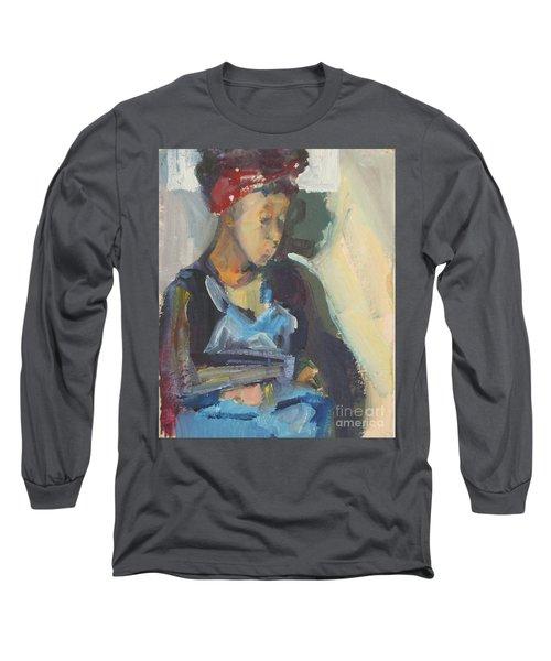 In The Still Of Quiet Long Sleeve T-Shirt by Daun Soden-Greene