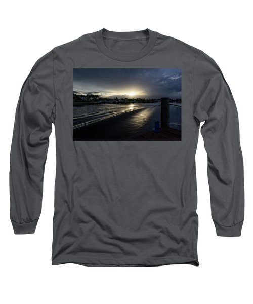 Long Sleeve T-Shirt featuring the photograph In The Wake Zone by Laura Fasulo
