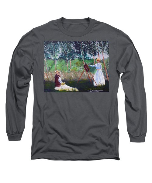 In The Woods At Giverny Long Sleeve T-Shirt by Luis F Rodriguez