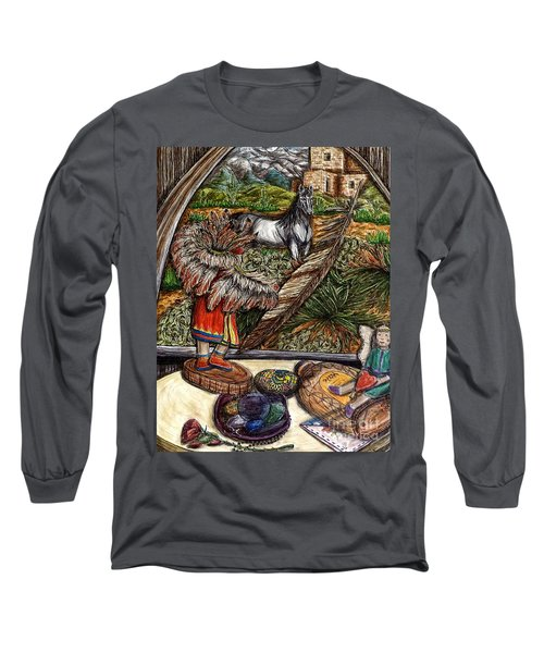 In Times Of Need Long Sleeve T-Shirt by Kim Jones