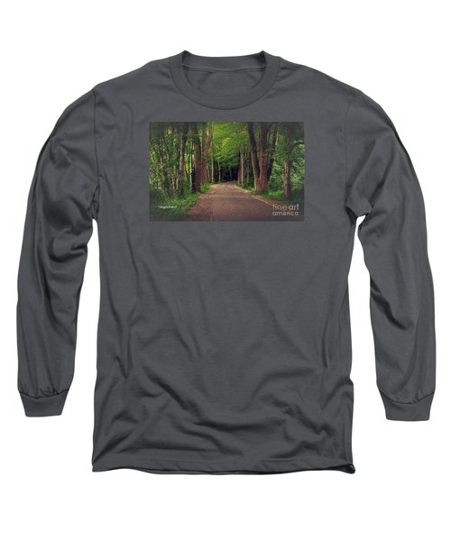 In To The   Deep Dark Woods  Long Sleeve T-Shirt by MaryLee Parker