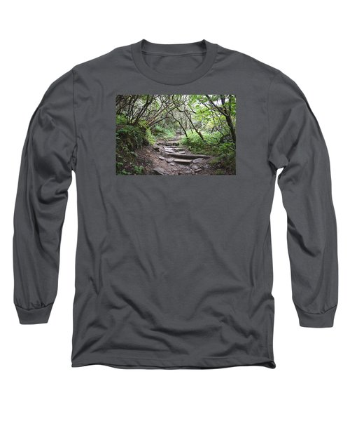 The Enchanted Forest Path Long Sleeve T-Shirt by Gary Smith